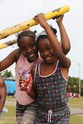 Two Girls at Playground